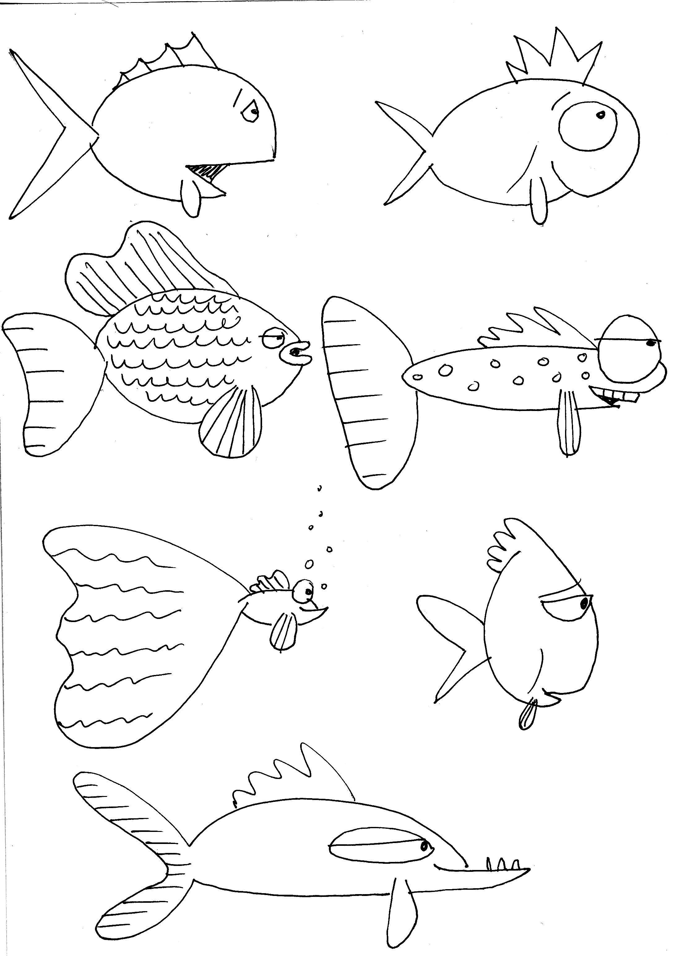 fishes drawing - photo #31