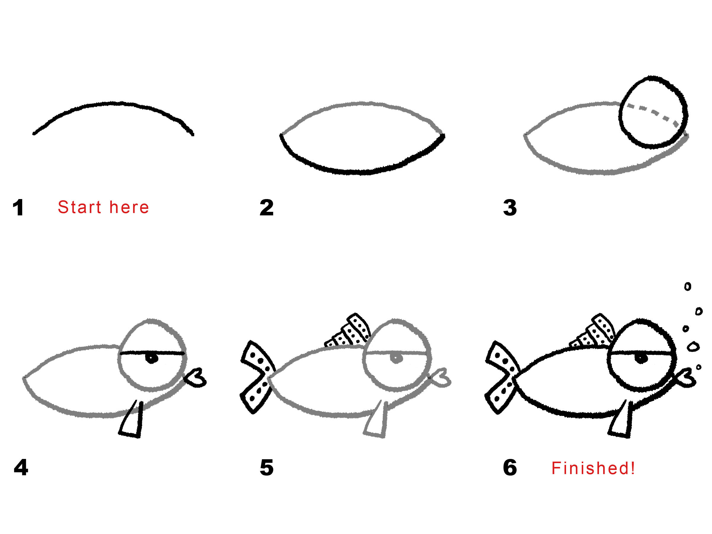 How To Draw A Cartoon Fish Photo#21