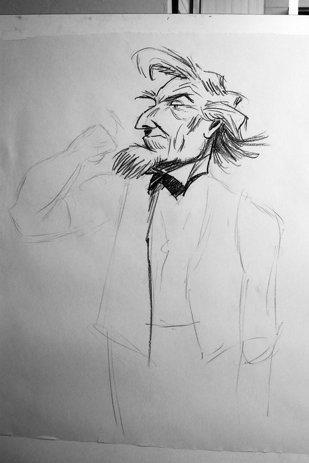 Drawing Uncle Sam (circa 1940)