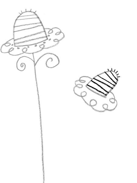 how to draw a flower stem